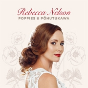 Poppies And Pohutakawa by Rebecca Nelson